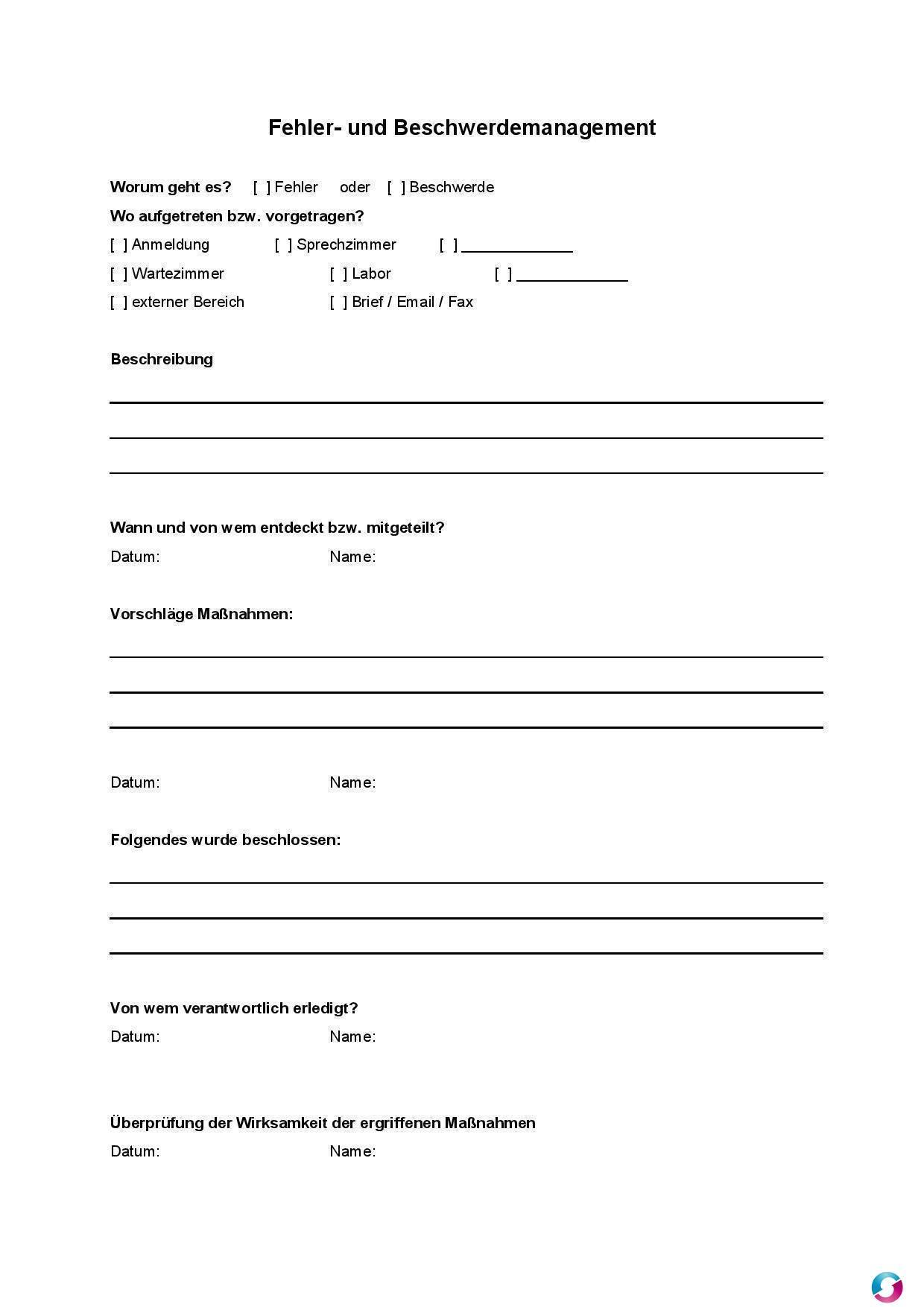 Beschwerdebrief Und Mustervorlagen 6