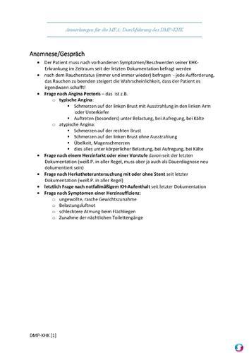 Screenshot for Checkliste MFA - DMP KHK