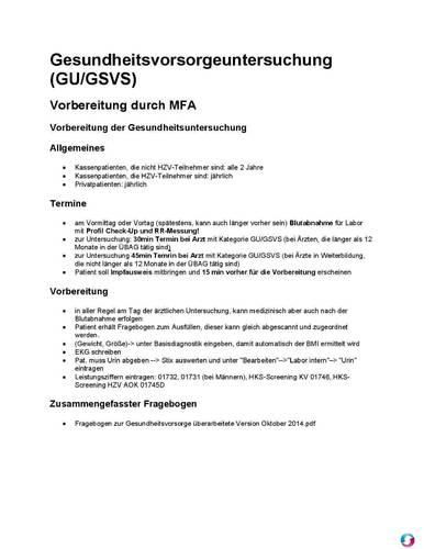 Ablauf Gesundheitsvorsorgeuntersuchung (PDF) - Qualitätsmanagement ...