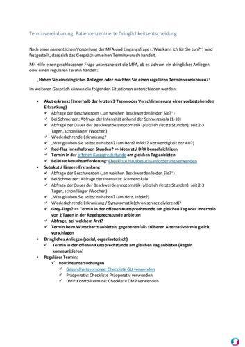 Screenshot for Patientenzentrierte Terminvereinbarung